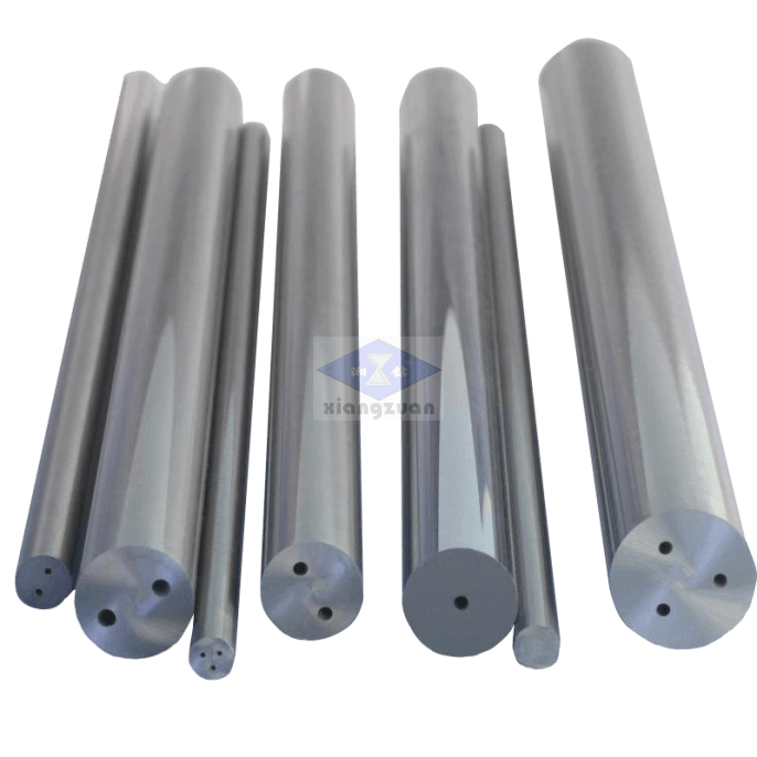 Carbide rods with two coolant holes